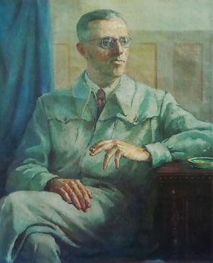 Худ. Георги Даскалов, единственият портрет на Димитър Димов, рисуван от натура